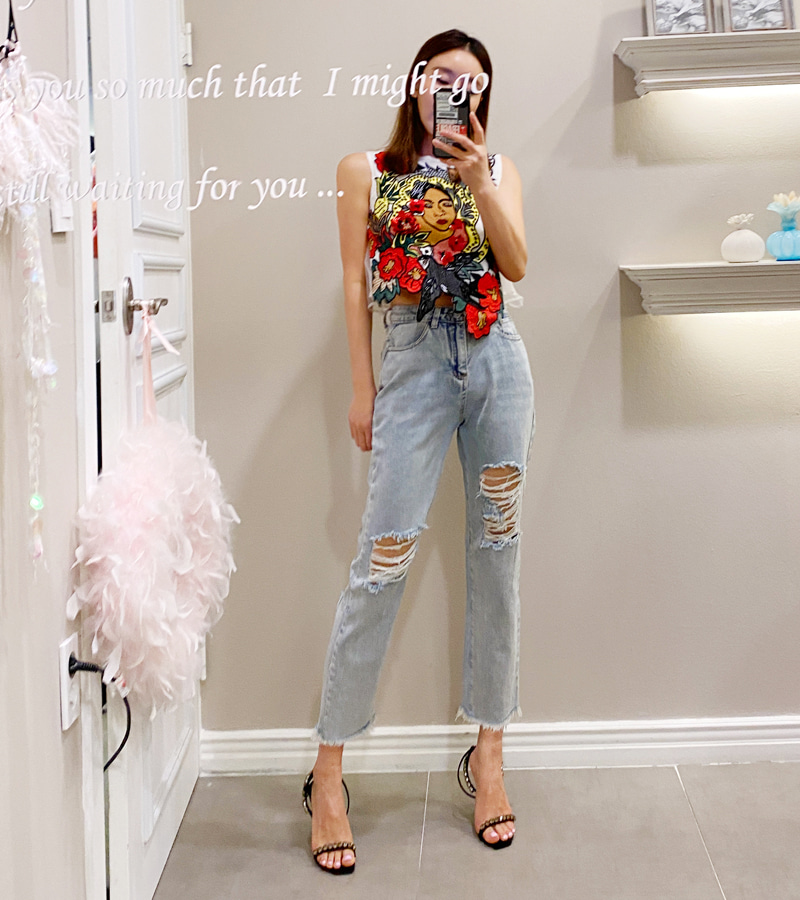 wish denim pants